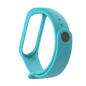 Ремешок силиконовый для фитнес трекера Xiaomi Mi Band 3 (бирюзовый)