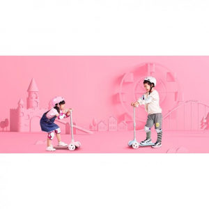 Детский самокат-кикборд Xiaomi Rice Rabbit Scooter (Розовый)