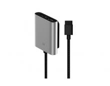 Удлинитель с дополнительными разъемами для Xiaomi Car Charger QC 3.0 USB-A + USB-C