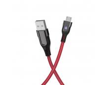 Кабель Hoco U54 Advantage MicroUSB (1,2м) (черный)