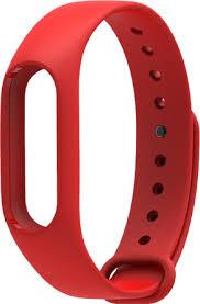 Ремешок силиконовый для фитнес-трекера Xiaomi Mi Band 2 (Red)