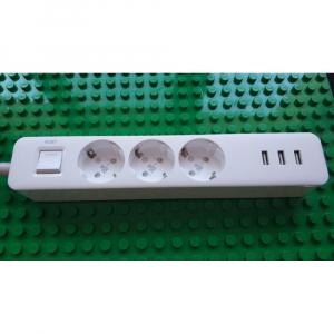 Удлинитель Xiaomi Mi Power Strip 3 розетки, 3USB (XMCXB04QM) (International)