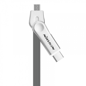 Кабель Nillkin Plus III USB - Type-C / microUSB, серый