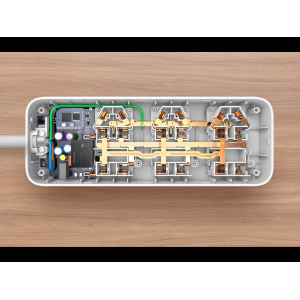 Удлинитель Mi Power Strip Quick Charger 2.0 (6 + 3 USB-port) Белый