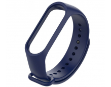 Ремешок силиконовый для фитнес трекера Xiaomi Mi Band 3 (синий)
