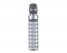 Микрофон Rock Bluetooth Speaker with Karaoke Microphone (серебро)