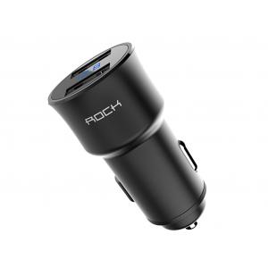 Автомобильный блок питания Rock H2 Car Charger with Digital Display 2 USB 3.4A (черный)