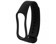 Ремешок силиконовый для фитнес трекера Xiaomi Mi Band 3 (черный)