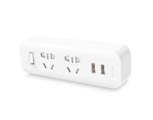 Удлинитель KingMi Power Strip (2 розетки, 2 USB) Белый