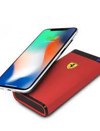 Внешний аккумулятор Power Bank Ferrari Wireless 10000 mah, 2 USB (Red)