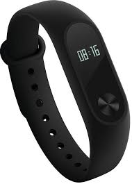 Ремешок силиконовый для фитнес-трекера Xiaomi Mi Band 2 (Black)